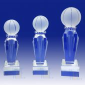 Prism Optical Crystal  Basketball Trophy TH084 (Size: Small)